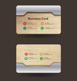 Business card template With wood texture vector image