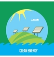 Clean energy banner Sun power generation vector image