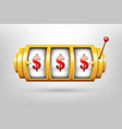 creative of 3d gambling reel vector image