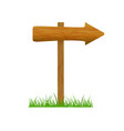 direction wooden arrow vector image