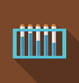 Flat design modern of laboratory samples icon with vector image