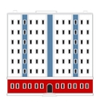 High-rise house vector image