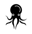 octopus icon black sign on vector image