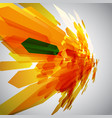orange and a green arrow in motion vector image