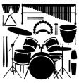 percussion instruments vector image