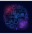 Study and learning colorful vector image