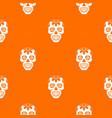 sugar skull flowers on the skull pattern seamless vector image