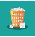 Trash Recycle Bin Garbage Flat vector image