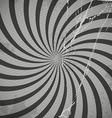 Vintage spiral grey background with blots vector image
