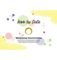 watercolor wedding invitation vector image