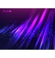 Violet aurora polar light abstract vector image vector image