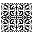Abstract lattice monochrome seamless pattern vector image