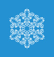 melting snowflake icon simple style vector image vector image