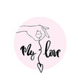 my love calligraphy for typography vector image