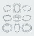detailed vintage frames in baroque style vector image vector image