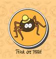 Cartoon cute spider in hat vector image