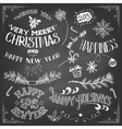 Christmas and New Years elements set vector image