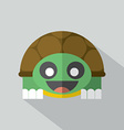 Modern Flat Design Turtle Icon vector image