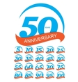 Template Logo Anniversary Set vector image