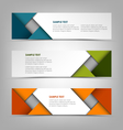 Collection banners with abstract colored triangles vector image vector image