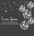 christmas ball isolated b vector image
