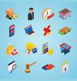 electronic commerce isometric icon set with vector image