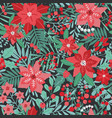 elegant christmas festive seamless pattern with vector image