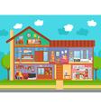 Family Home Interior Design Concept vector image