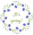 Floral frame spring wreath design element vector image