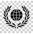 global emblem icon vector image