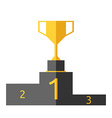 Goblet on pedestal isolated vector image