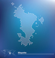 Map of Mayotte vector image