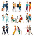 professional occupation people set vector image