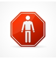 Sign no man on white background vector image