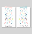 trendy creative cards vector image