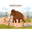 mammoth hunting background vector image