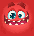 cartoon funny monster face vector image