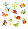 Set of funny insects vector image