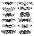 vector tribal tattoos set vector image vector image