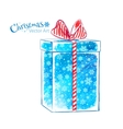 Gift box Watercolor art vector image
