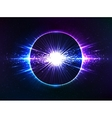Dark blue cosmic explosion abstract vector image
