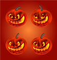 Happy Halloween set merry pumpkin vector image