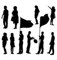 Collection of silhouettes of people vector image vector image