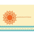 summer abstract background vector image