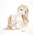 Cute fabulous unicorn with golden mane isolated on vector image