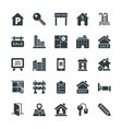 Real Estate Cool Icons 4 vector image