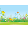 Flower meadow with ladybug vector image vector image
