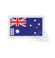 australia flag old postage stamp vector image