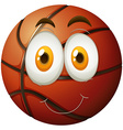 Basketball with happy face vector image