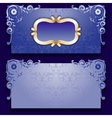 blue invitation card with frame vector image